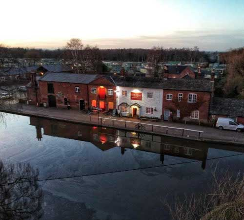 The Swan, canal-side pub at Fradley Junction, Alrewas